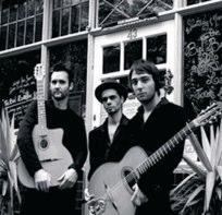 The Biel Ballester Trio outside le QuecumBar